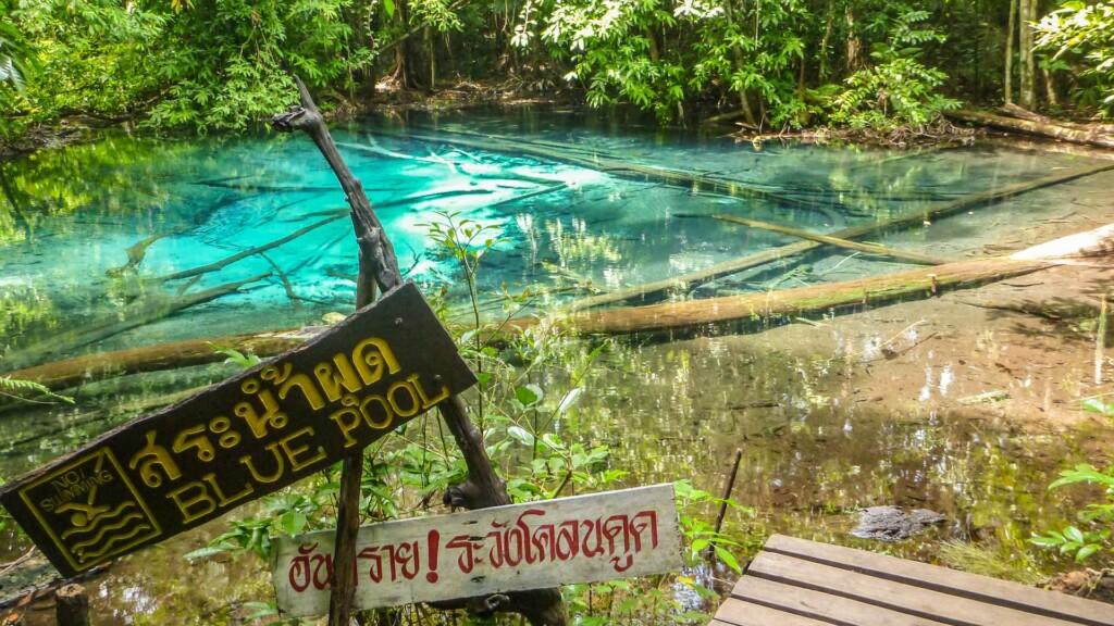 Blue Pool in Krabi